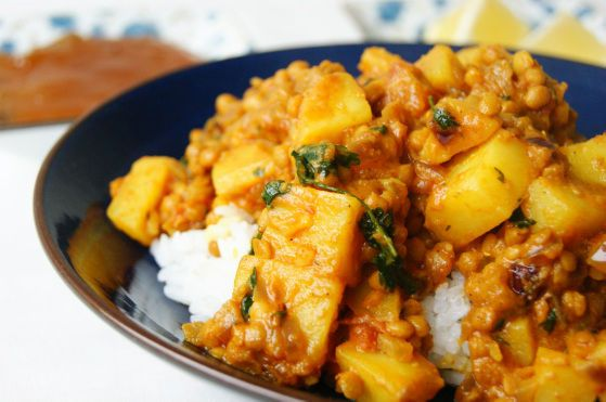 Indian red lentil and potato dhal, via @Alana Salisbury.