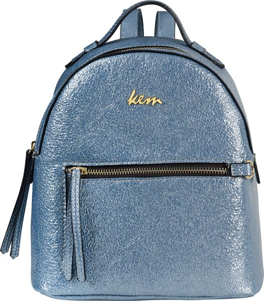 Kem back pack metallic blue #papakfroufrou