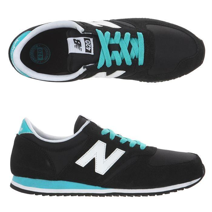 NEW BALANCE Baskets 420 Homme homme Noir, blanc et turquoise- Achat / Vente NEW BALANCE Baskets 420 Homme pas cher - Cdiscount