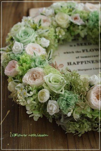 【ブライダル】爽やかなウェルカムリース|Flower note の 花日記