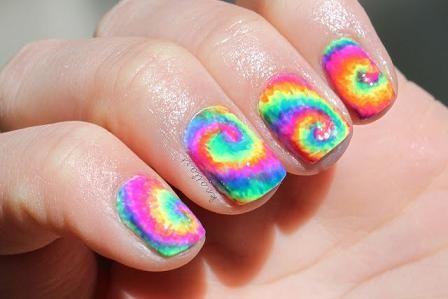 Tie Dye Nail Art: Nails Art Tutorials, Ties Dyes Nails, Nailart, Nails Design, Ties Die Nails, Tie Dye Nails, Swirls, Tye Dyes, Nail Art