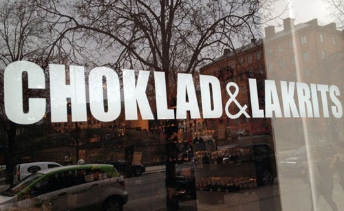 Skyltfönstret på Stockholms butiken.