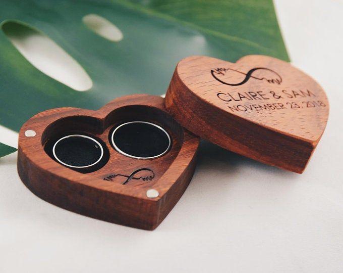 Round Shaped Engraved Custom Ring Box Laser Engraved Hardwood Etsy Custom Ring Box Wood Ring Box Wedding Ring Box