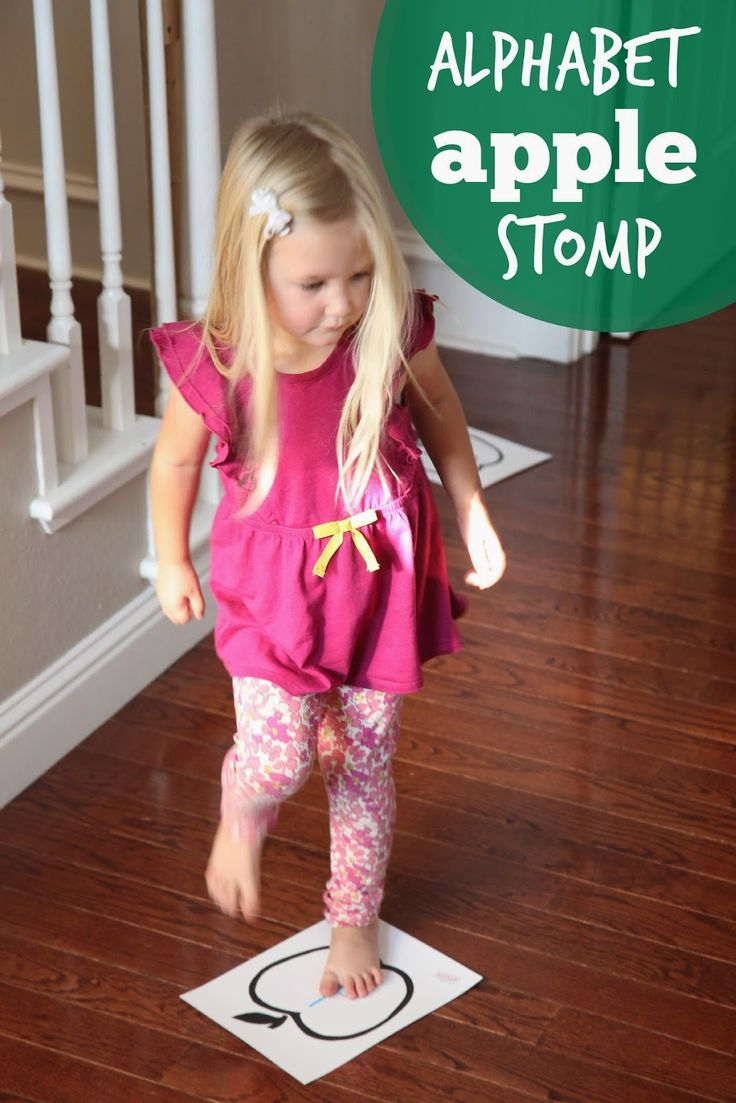 Alphabet Apple Stomp Game for Kids from Toddler Approved