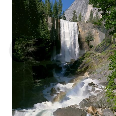 Waterfall Pouring Over Rocky Cliff Shower Curtain On CafePress.com