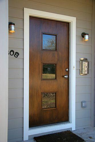 Mid century modern door mathews pinterest stains - Mid century modern exterior doors ...