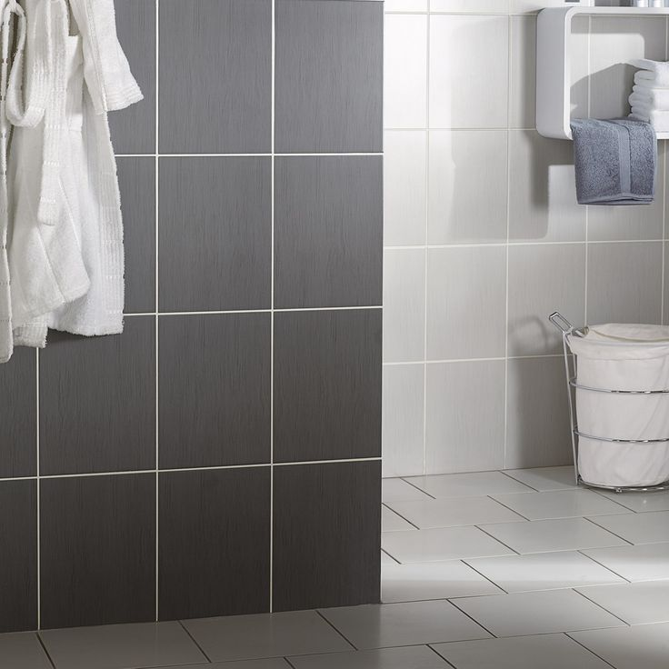 Carrelage mur salledebains gris marron rectangle for Leroy merlin sdb