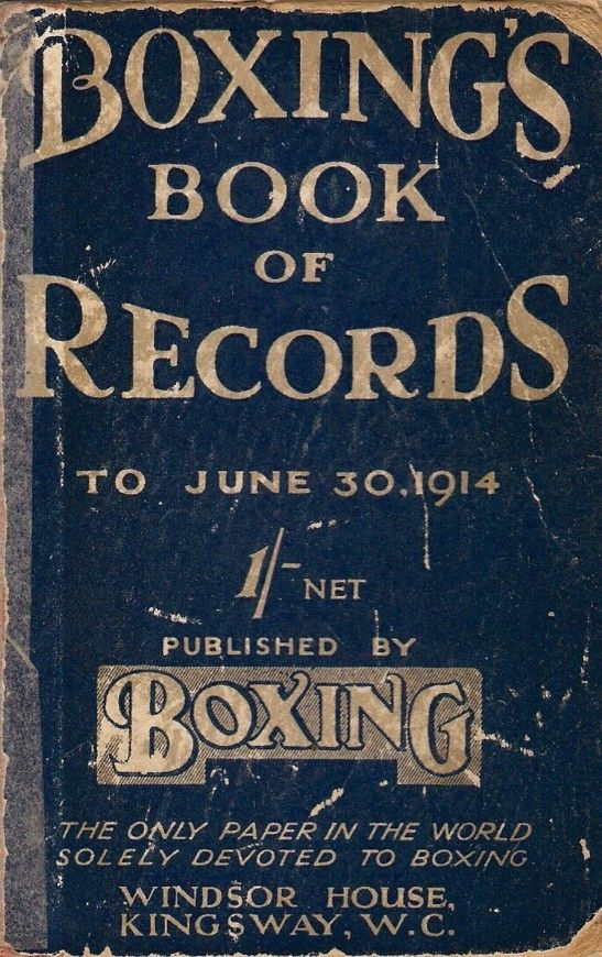 → 1914 Boxing book of records