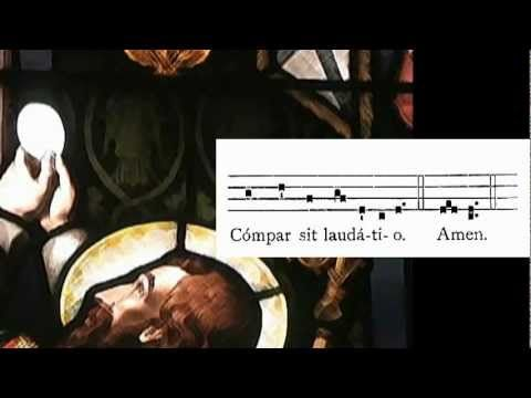 Tantum Ergo Sacramentum- St. Thomas Aquinas for Feast of Corpus Christi