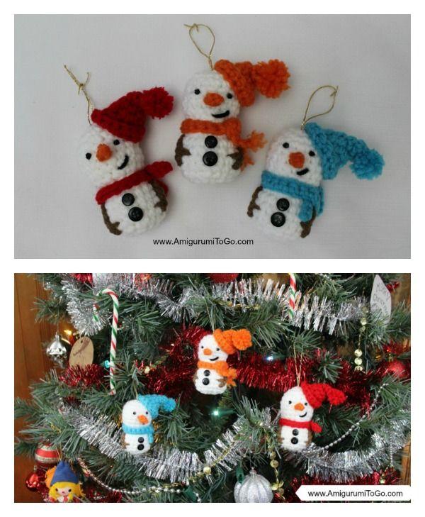 Amigurumi Snowman Ornament Free Crochet Pattern