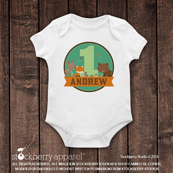 Woodland 1 camisa del cumpleaños por stockberryapparel en Etsy