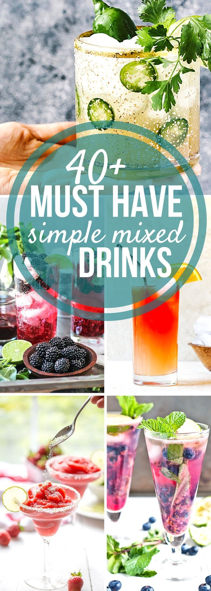 Simple Mixed Drinks you need right now for a refreshing summer. Learn how to make mixed drinks with this delicious collection #SundaySupper
