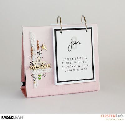 Table calendar with the Daydramer collection. Created by Kirsten Hyde