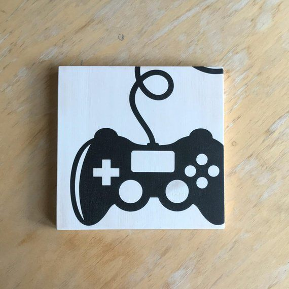 Video Game Controller – Gamer Gift – Gamer Room Decor – Gamer Sign – Gamer Party Decor – Video Game Decor – Video Game Art – Gamer Room Sign
