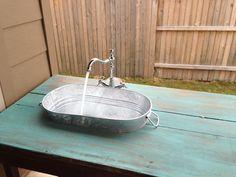 DIY outdoor sink!