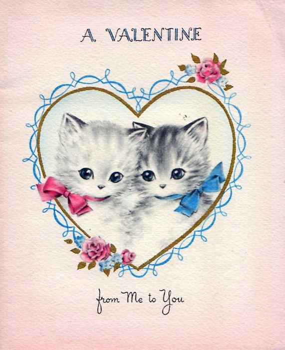kitten couple Valentine
