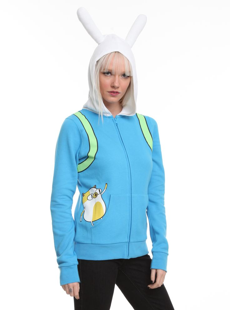 Adventure Time I Am Fionna Girls Hoodie Hot Topic
