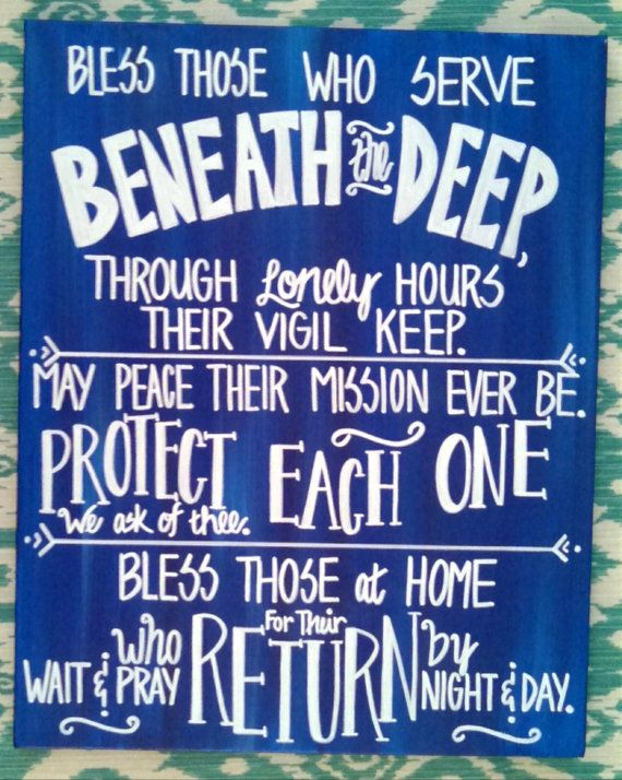 11x14 Love US Navy Submariner's Wife Prayer by AnchoredCreations2