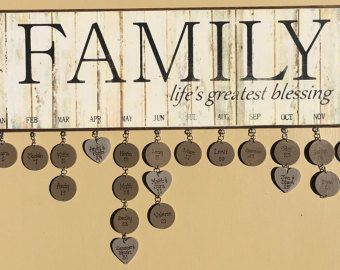 Family Birthday Board 3 by DownhomeCraftByDiane on Etsy