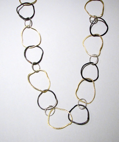 Oxidized Shimmer Necklace.   Made in NC