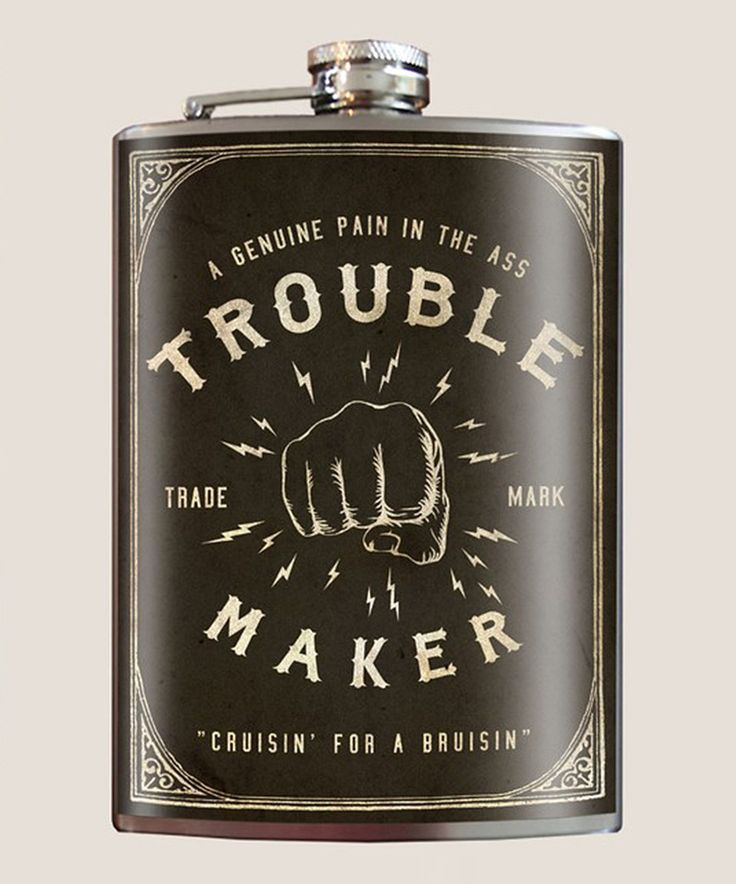 Love this Trixie & Milo 'Troublemaker' 8-Oz. Stainless Steel Flask by Trixie & Milo on #zulily! #zulilyfinds