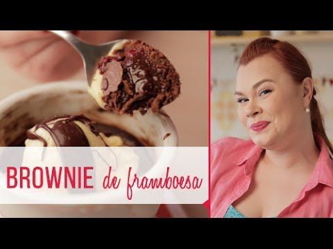 Brownie de chocolate e framboesa - YouTube