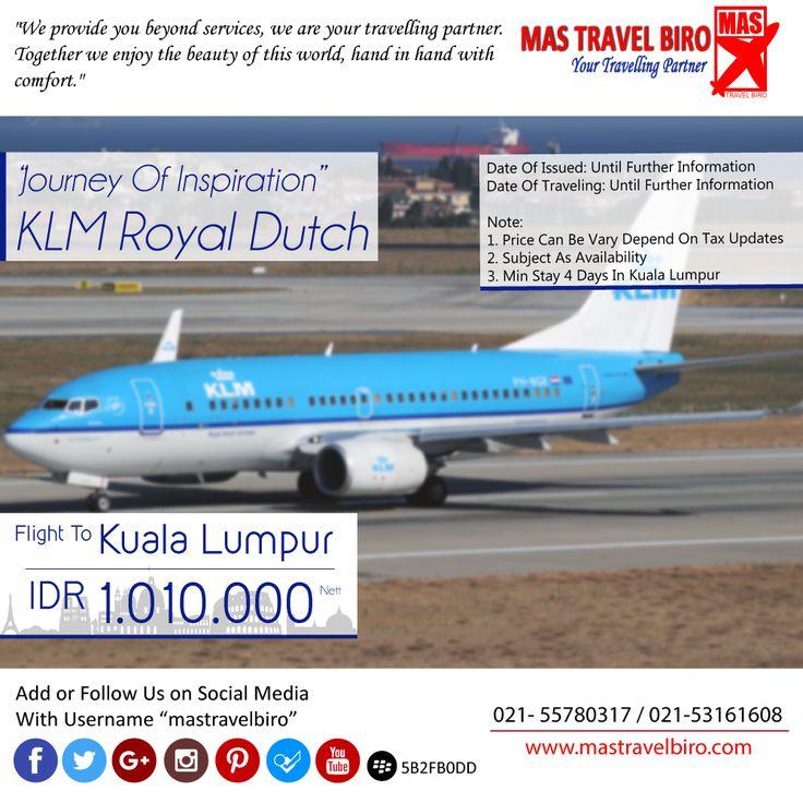 Terbang ke Kuala Lumpur Hanya Rp 1.010.000/Pax Nett PP. Book Now !! ;) #mastravelbiro #promo #klm #kualalumpur