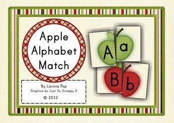 Alphabet Match-Up - Apples {FREE}