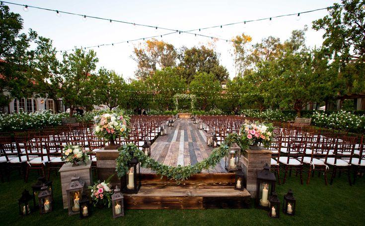 Raised aisle for outdoor wedding ceremony | Inside Weddings Spring 2016 Magazine Preview via @insideweddings