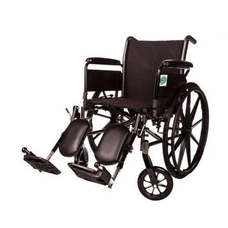 Lightweight Wheelchair Arm Detachable with Elevating Legrest By Healthline Trading (20 inch Full ARM)