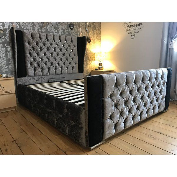Breanna Wing Upholstered Bed Frame Upholstered Bed Frame