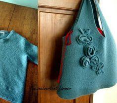 Come fare una borsa con maglione riciclato