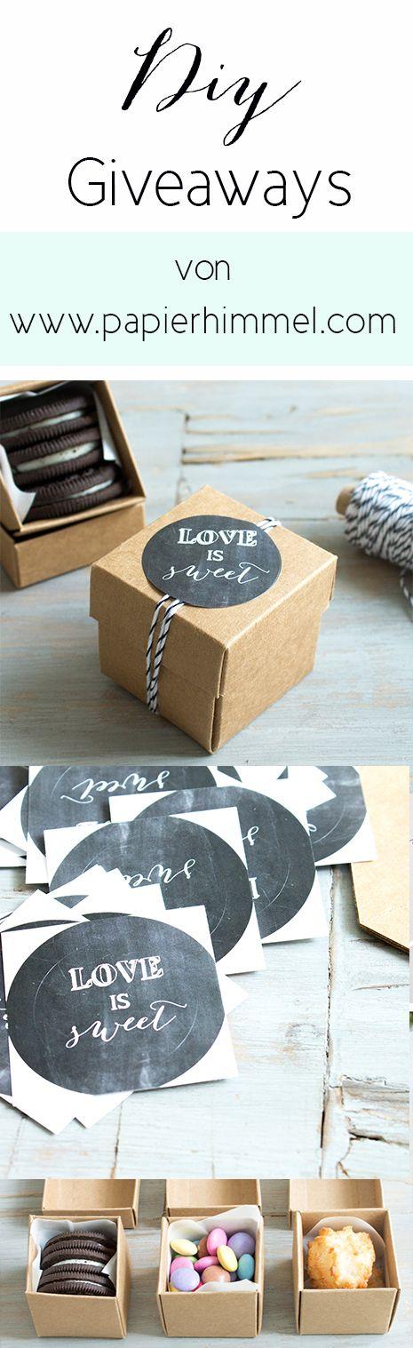 Gastgeschenk - Schachteln mit Süßkram und Sticker