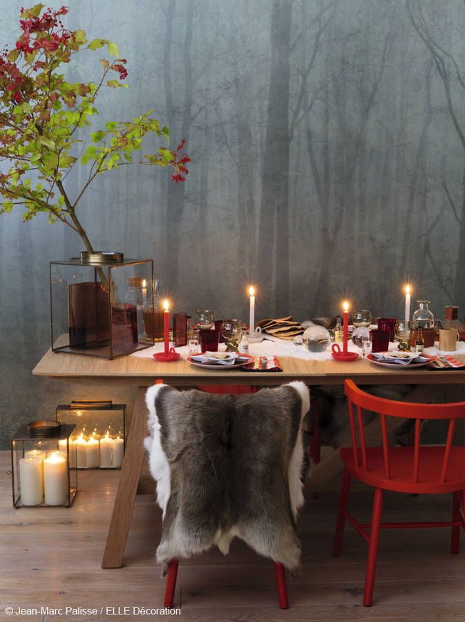 Table de fête d'inspiration scandinave