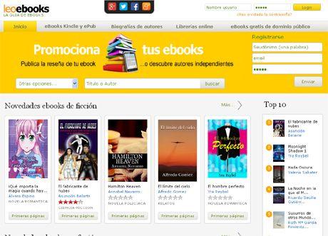La mejor web para promocionar tus ebooks o descubrir autores independientes http://www.leoebooks.com
