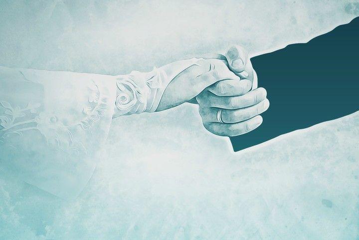 wedding, romantic, hands