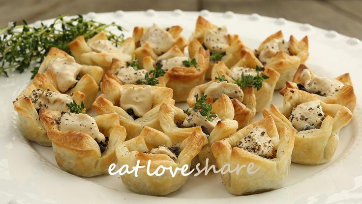 Mushroom, herb and French onion tartlets. #eatloveshare