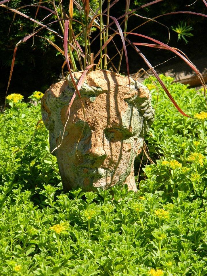 Roman Head Planter