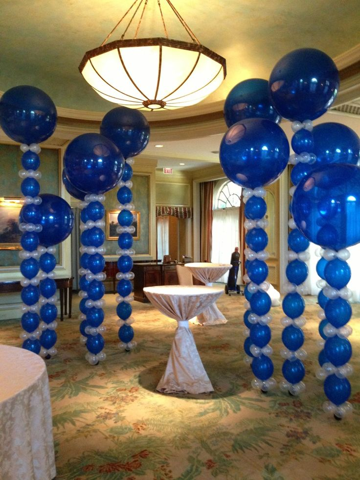 170 best images about big balloons on pinterest bar for Birthday balloon centerpiece ideas