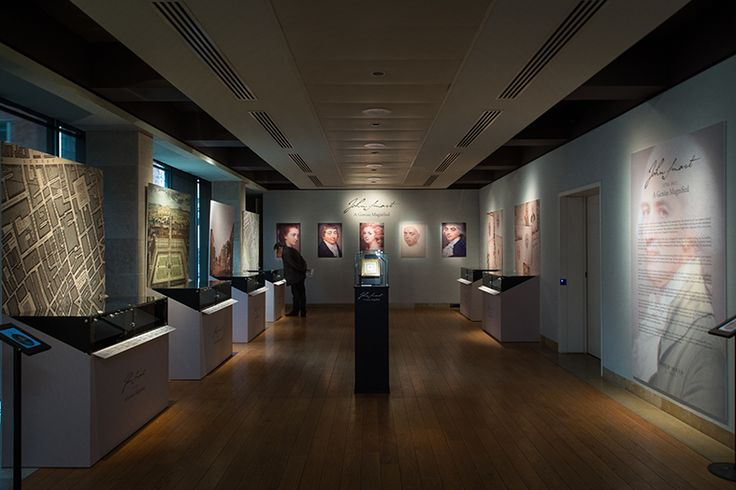 Philip Mould's exhibition of portrait miniatures by John Smart - A Genius Magnified. We designed and built the exhibition in London.