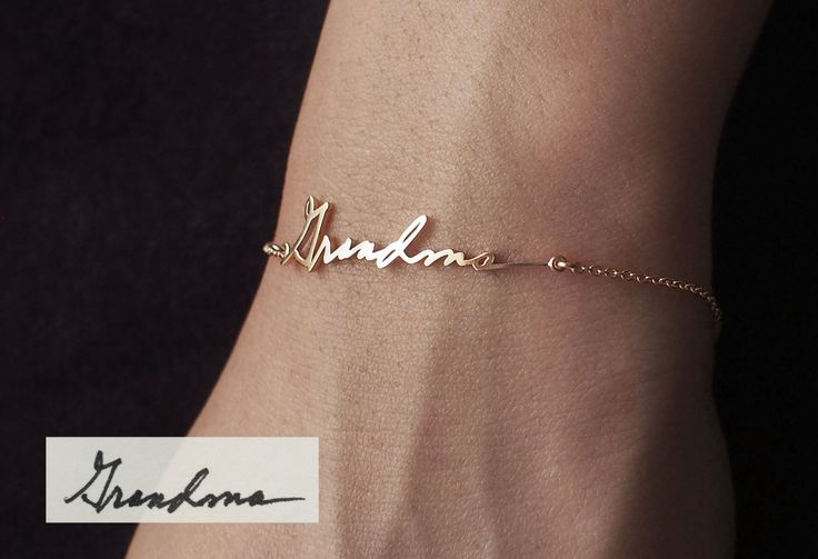 Actual Handwriting Bracelet - Personalized Signature Bracelet - Memorial Jewelry - Sympathy Gift - Mother's Gift PB03 by GracePersonalized on Etsy https://www.etsy.com/listing/213049148/actual-handwriting-bracelet-personalized ::  I need to find the letters or birthday cards I saved from my grandparents over the yrs  so I can do this!