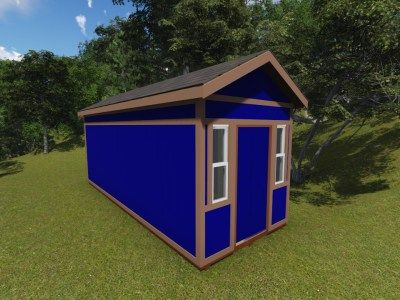 8x22 Tall Gable Shed Plan. This Thing Is Long! This Plan Is Easy To