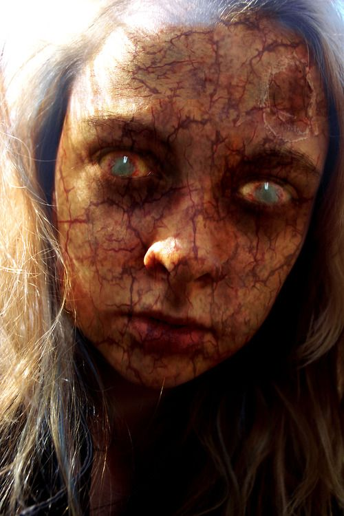 "Creepy zombie special effects makeup idea / Pairs best with some ""Risen Deal"" Zombie contacts -> http://www.pinterest.com/pin/350717889706006098/"