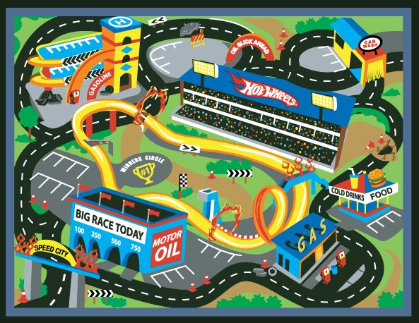 Great 15 Amusing Kids Race Track Rug Digital Picture Inspiration