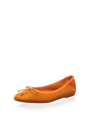 68% OFF Patricia Green Women's Sparkle Ballet Flat (Orange)