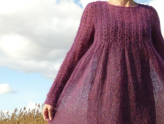 Rebecca #37 Ravelry: 14 Grey Mohair Dress pattern by Rebecca Design Team