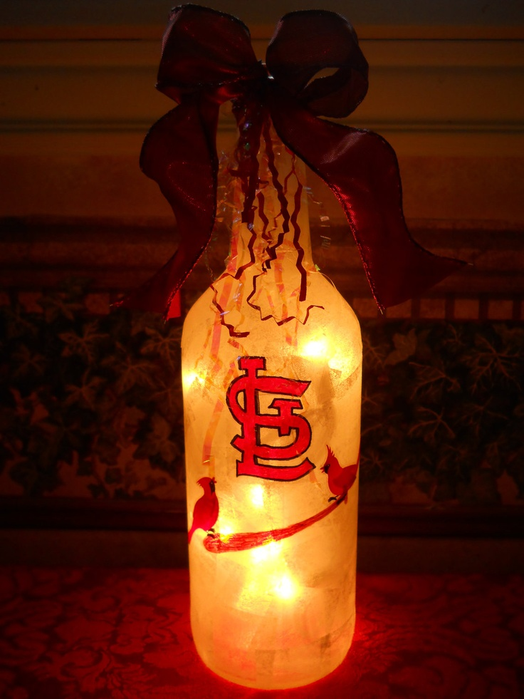 Saint Louis Cardinal's Lamp. $25.00, via Etsy....Give me now!!! This would be a perfect present for a Cardinals baseball fan :)