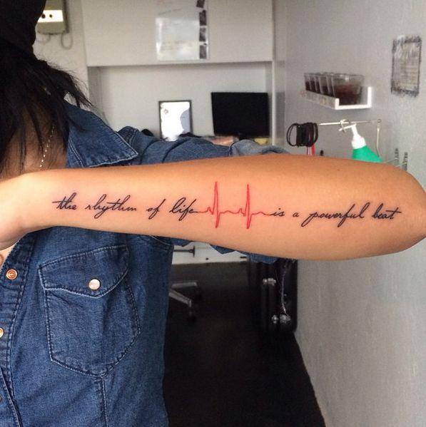 heartbeat tattoo #ink #youqueen #girly #tattoos #EKG #heartbeat