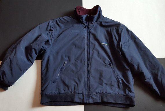 Vintage LL Bean Men's Warm Up Jacket XL by GreatLakesGreatFinds