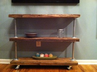 Rustic Modern Utility Cart III by Tyler Kingston Wood Co. - traditional - clothes and shoes organizers - by Etsy